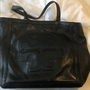 Large Tory Burch tote with duster bag